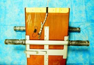 Рисунок доски Евминова в разрезе, без деревянной планки крепления каната.