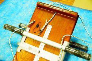 Рисунок профилактора-доски Евминова с внутренней стороны. Как крепится подвесной канат.